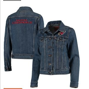 Women's Arizona Cardinals Levi's Denim Jacket